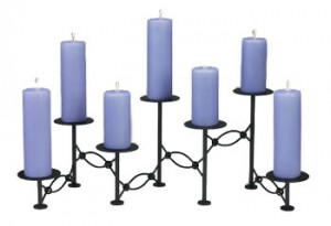expandable fireplace candelabra