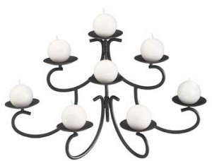 Tiffany fireplace candelabra