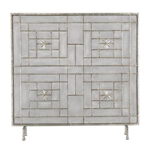 Silver Star Fireplace Screen