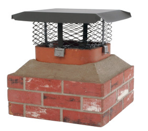 Adjustable Chimney Cap for Oval, Square or Rectangular Flues