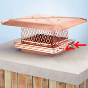 How to Install Chimney Cap - single flue cap that mounts to outside of flue