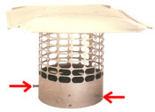 how to install chimney cap that is round and attaches to outside of flue with screws