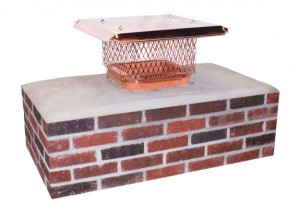Single flue chimney cap that attaches with a band to the flue
