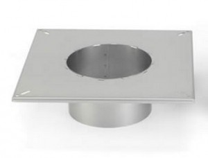 Enervex adaptor for round flues that are not air-cooled