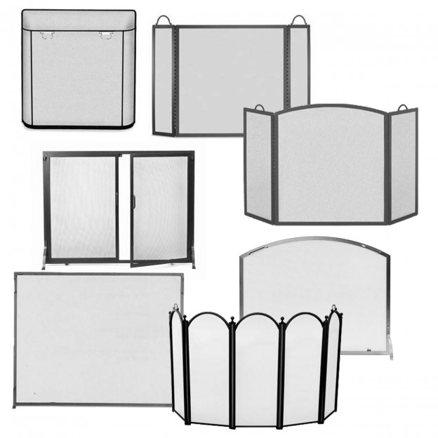 Fireplace screen shapes