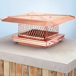 Single flue chimney cap that attaches to flue with set screws