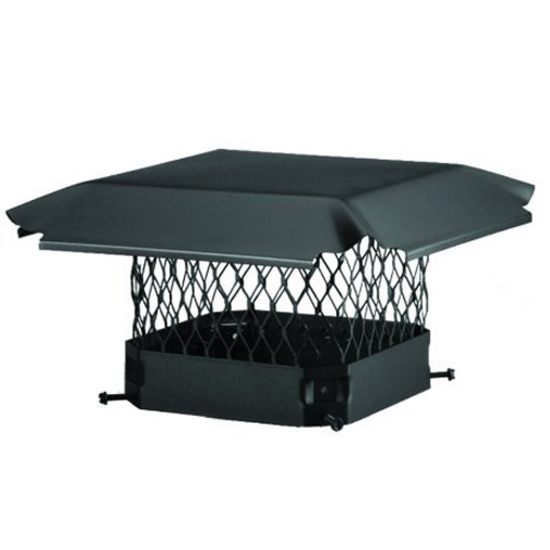 Single Flue Chimney Cap = Black Draft King Single Flue Chimney Cap