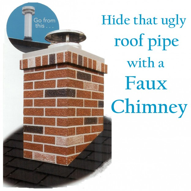 Hide Ugly Roof Pipes with a Chimney Surround