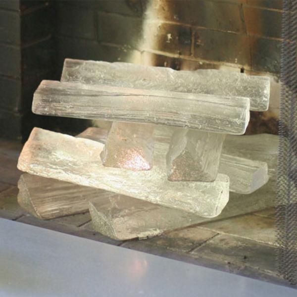 Jeff Benroth's cast glass logs.