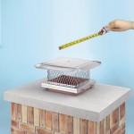 Single Flue Chimney Cap - Measure