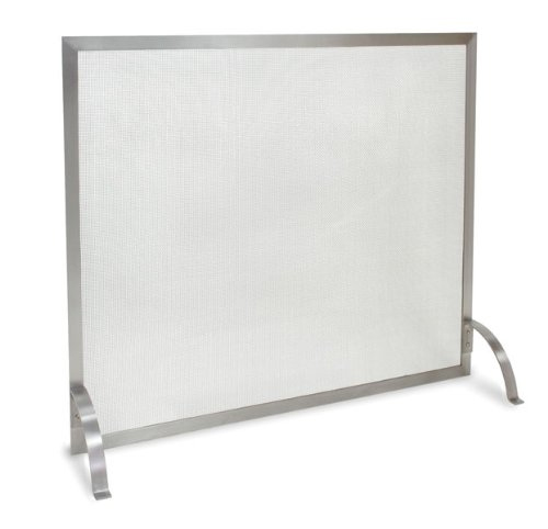 Stainless Steel Single Panel Fireplace Screen