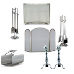 Silver Fireplace Accessories