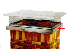 how to install chimney cap - outside mount cap that attaches to vertical sides of chimney