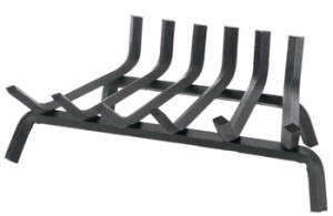 tapered fireplace grate