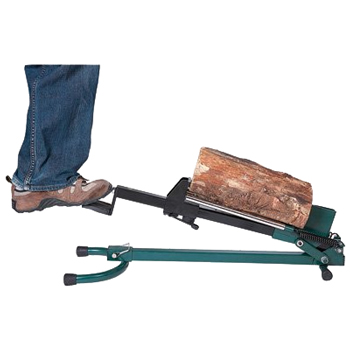 manual hydrolic log splitter using foot power