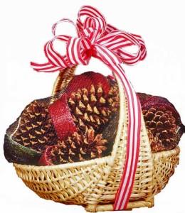 fireplace gift basket