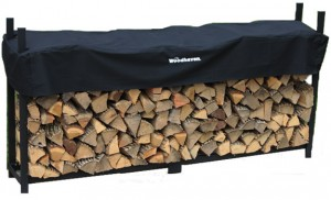 Woodhaven Log Rack, 8 feet, holds 1/2 Cord of Firewood