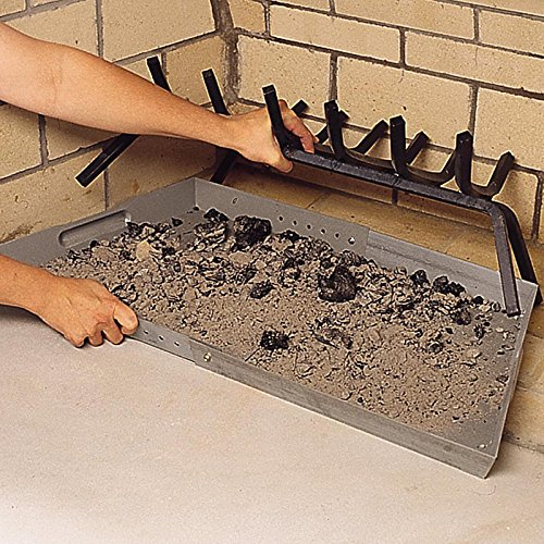 fireplace ash control with an ash tray or pan