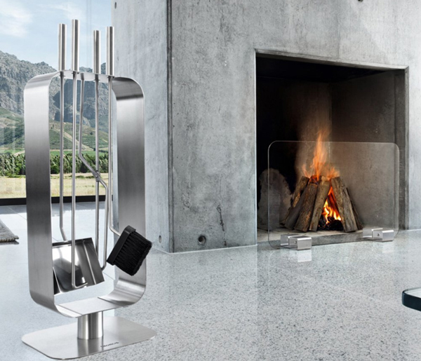 Blomus Stainless Steel Fireplace Set