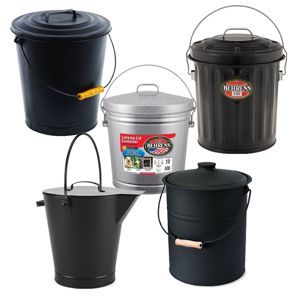ash control with a lidded ash bucket