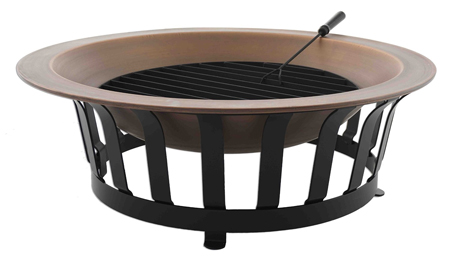 outdoor fireplace fire bowl with grill