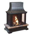 outdoor fireplace - wood