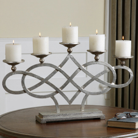 Use Fireplace Candelabra as Table Candelabra