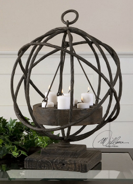 The Sammy Fireplace Candelabra becomes a statement centerpiece as a table candelabra.