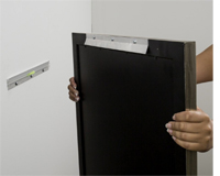 how to fasten fireback to wall