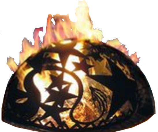 Orion Starry Night Fire Dome with fire