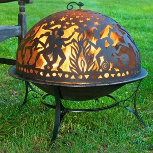 Fire Pit Art Dome Screen