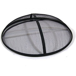 Sunnydaze traditional fire pit screen spark guard