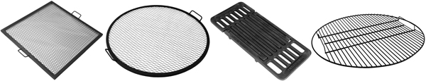 Fire Pit Grills with Mesh or with Bars