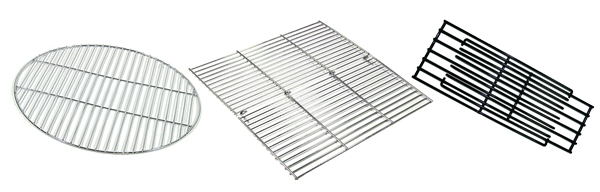 Round, square and rectangular fire pit grills