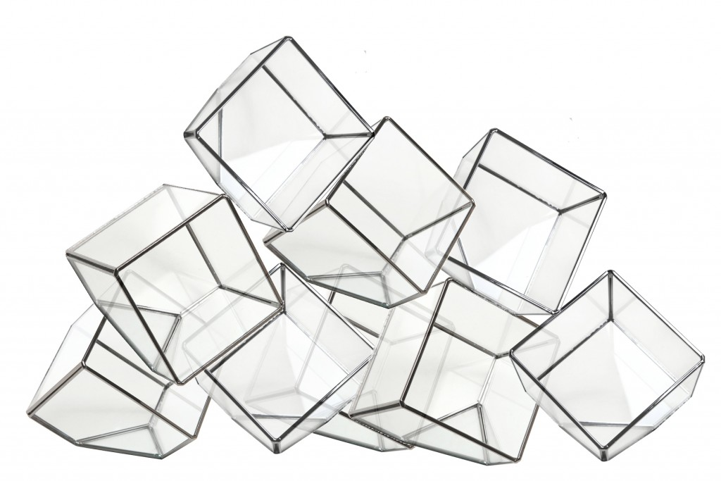 "Grouping of glass ""cubes"""