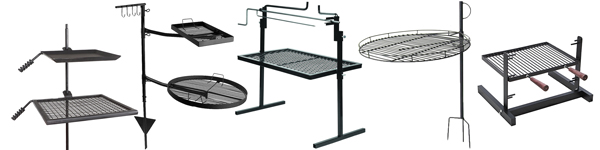 Adjustable Height Fire Pit Grills