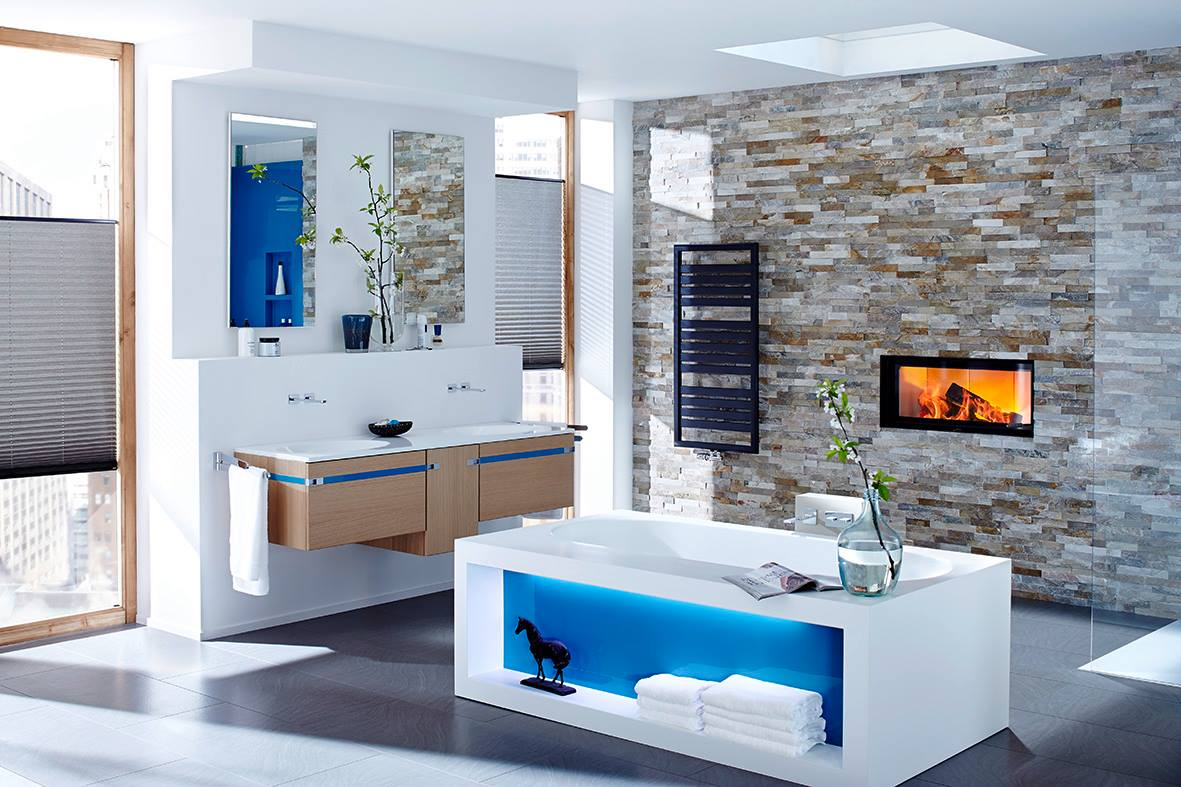 Bathroom Fireplace - The Blog at FireplaceMall