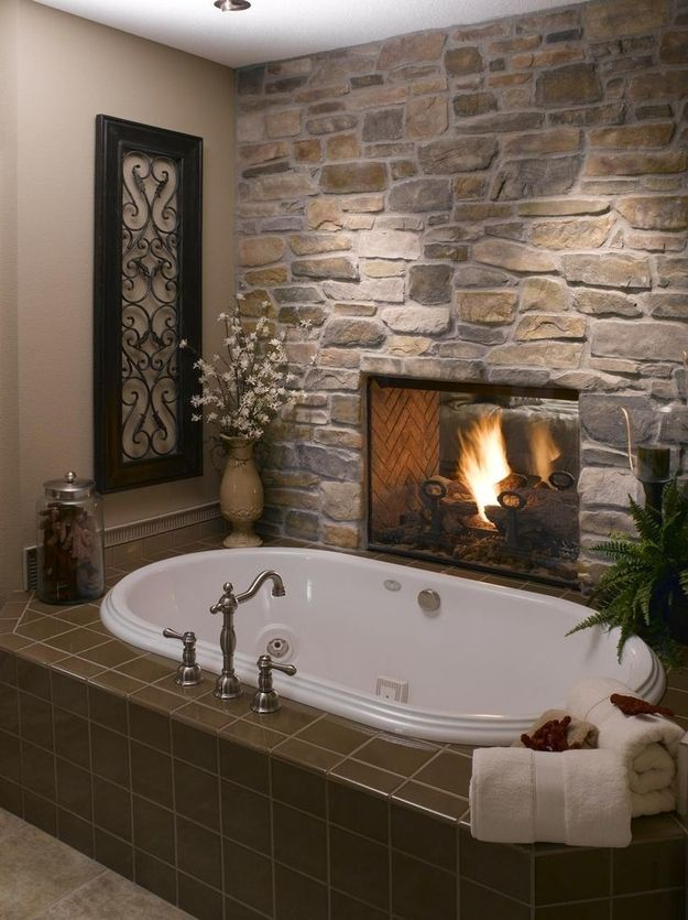 The Spa Bath with fireplace