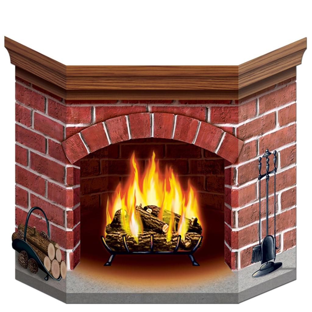 Folding Stand-up Brick Fireplace