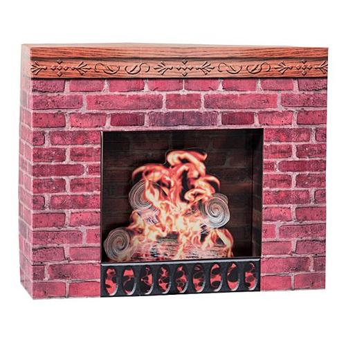 Cardboard Christmas Fireplace Prop by Shindigz