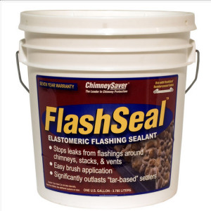 FlashSeal prevents chimney leaks at the flashing.