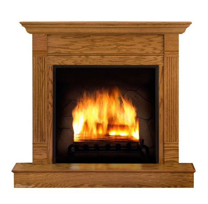 Fireplace - Advanced Graphics Life Size Cardboard Standup