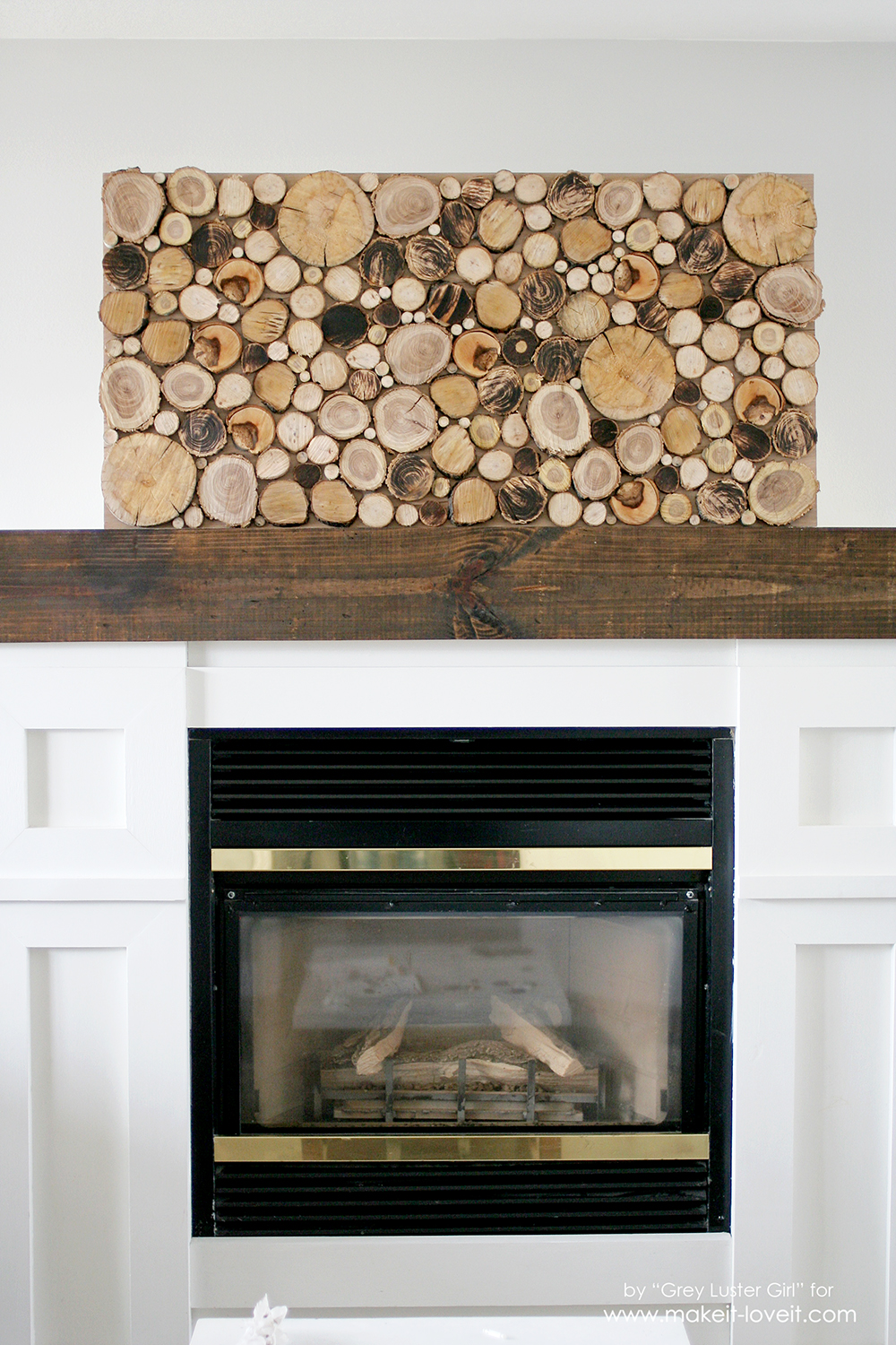 Thrifty Above Fireplace Decor - Wood Circles over Fireplace