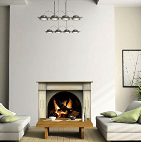N1239 Fireplace vinyl sticker decal in room
