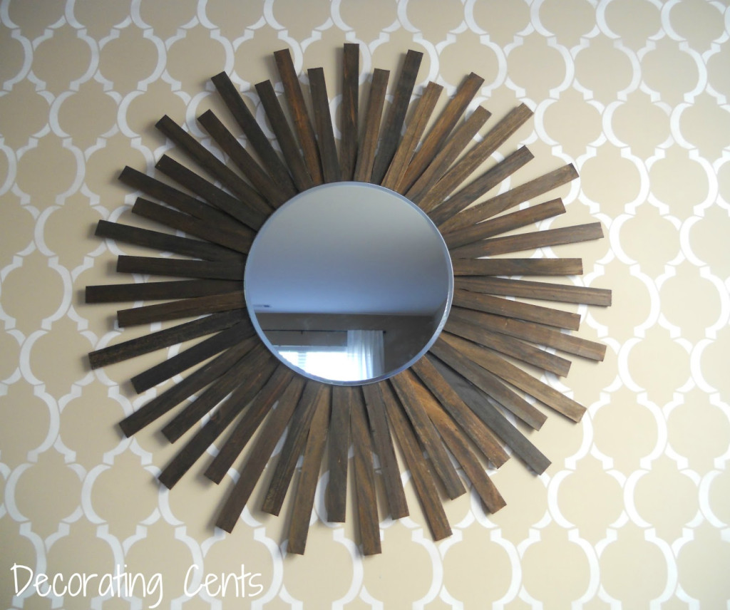 Paint stirrer mirror for above fireplace.