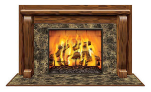 Shindigz Wooden Marble Fireplace Insta View