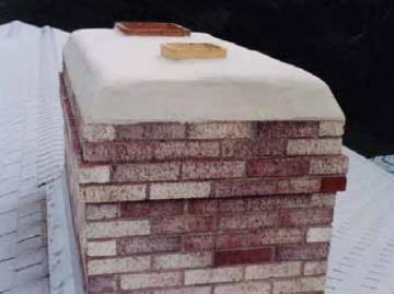 Prevent chimney leaks by repairing crown cracks with CrownSeal.