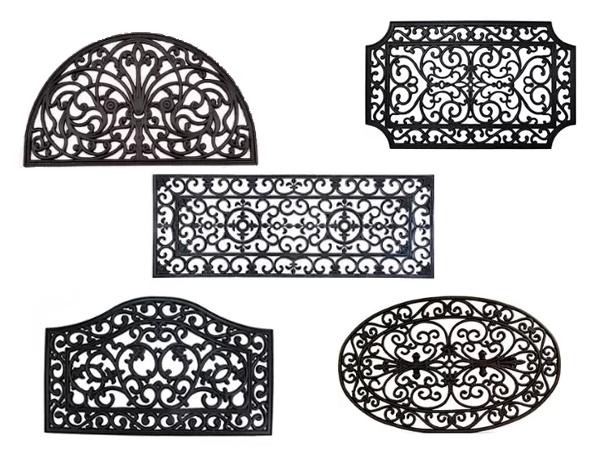 Shapes of rubber door mats