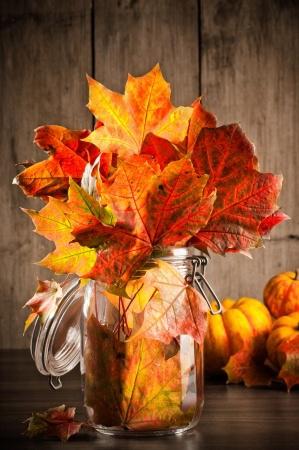 Fall Nature in Glassware