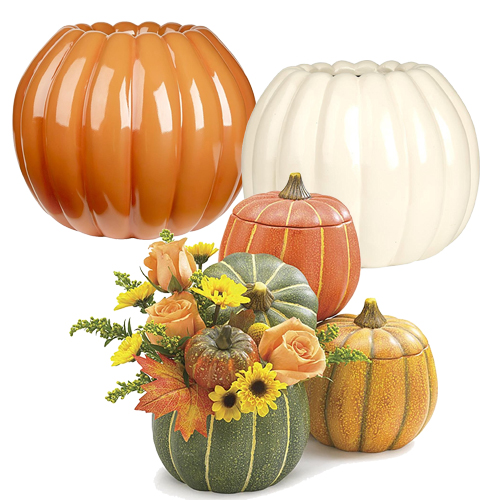 Pumpkin Planters for Fall Mantel Decorating